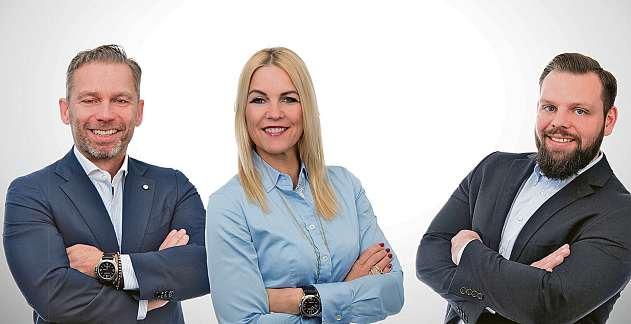 Marco Reardon, Dana-Jasmine Reardon und Kim-Christopher Heinemann vom Kieler alphaservice-Team FOTO: HFR