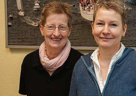 Petra Remmers und Beate Rebbe von der Altenhilfe zu Hause e.V. FOTO: VMN