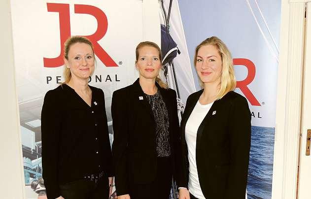 Christine Petersen, Geschäftsstellenleiterin Monique Müller und Susanne Stüwe (v.li.) von der Kieler Niederlassung der JR Personal GmbH FOTO: TAU