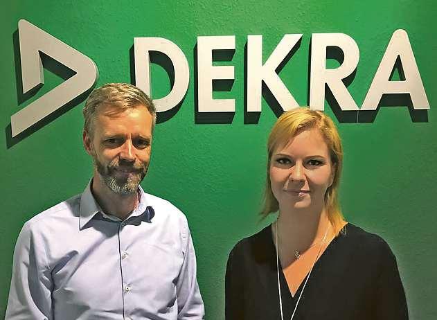 Udo Karpowitz und Katharina Zeman vom Team der DEKRA Arbeit Kiel FOTO: HFR
